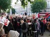 Warga London Gelar Unjuk Rasa Solidaritas untuk Rohingya