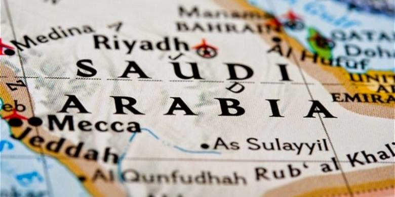 Potret peta Arab Saudi (sumber:google)