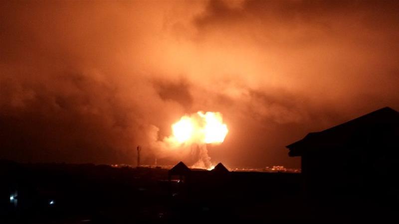 Potret ledakan yang terjadi di Ibu Kota Ghana, Accra, pada Sabtu (7/10). (Sumber: al-Jazeera)