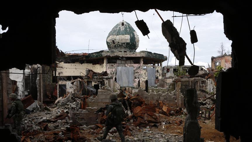 Potret seorang anggota militer Filipina di kota Marawi. Sumber: al-Jazeera