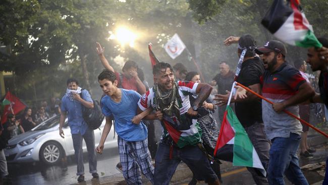 Ribuan Warga Chile Gelar Demo al-Quds Di Depan Kedubes AS