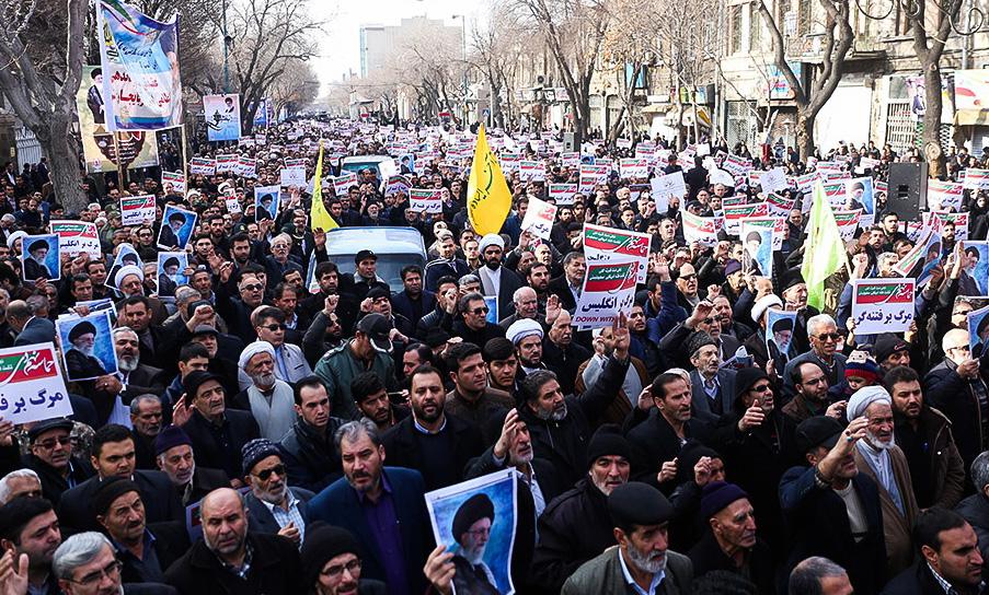 Jutaan Warga Iran Berdemo Dukung Pemerintah