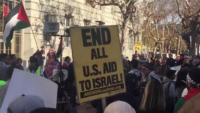 Ratusan Warga AS Gelar Demo Melawan Kebijakan al-Quds Trump