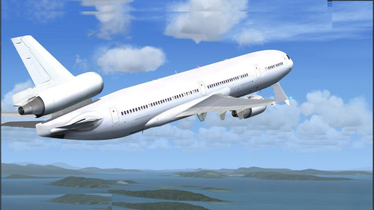 Ilustrasi pesawat terbang