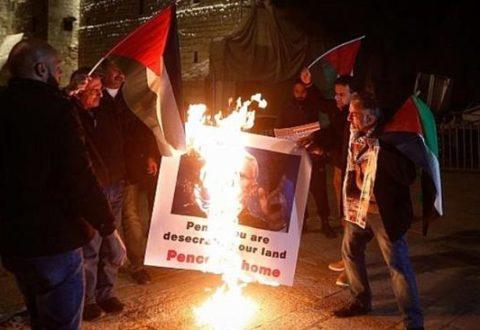 Warga Palestina Demo Protes Kunjungan Wapres AS ke Israel