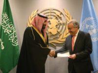 Takzim PBB untuk Bantuan Satu Milyar Dolar dari Saudi