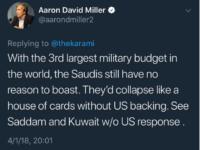 Analis AS: Tanpa Dukungan Washington, Riyadh akan Rontok