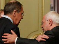 Sergei Lavrov, bersama dengan rekan Turki dan Irannya tengah mendiskusikan solusi krisis di Suriah.