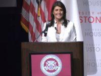 """[VIDEO] Mahasiswa AS Berdemo Di Depan Nikki Haley: """"Darah Palestina Ada di Tangan Anda!"""""""