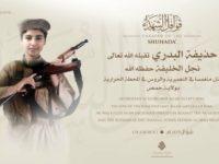 ISIS Nyatakan Putra Al-Baghdadi Tewas Di Suriah