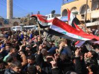 Warga kota Nubl dan Zahra (Aleppo) yang bergembira setelah terbebas dari teroris.