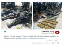 Tentara Suriah Sita Senjata Mutakhir Anti-Tank Buatan Perancis Di Daraa