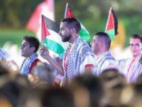 Kontingen Palestina Saat Defile. Sumber: INASGOC