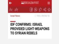 Jerussalem Post Hapus Berita Pengakuan Suplai Senjata Israel Kepada Pemberontak Suriah