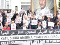 Demo Anti Saudi di Turki, Massa Bentangkan Poster Pemimpin Ansarullah Yaman