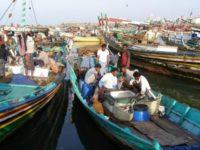 Ilustrasi aktivitas para nelayan Yaman di Hudaydah.