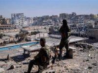 Potret Pasukan SDF di Provinsi Raqqah, Suriah.