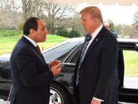 Presiden Trump sambut El-Sisi sebelum melakukan pertemuan pada 9 April mendatang.