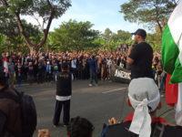 Ribuan Massa Gelar Demo Hari Al-Quds di Depan Konjen AS di Surabaya