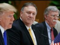 Donald Trump, Mike Pompeo, dan John Bolton