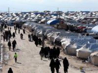 Suasana kamp pengungsian al-Hol, yang ditempati puluhan ribu anggota keluarga milisi ISIS di Hasaka, Suriah, 1 April 2019. REUTERS/Ali Hashisho