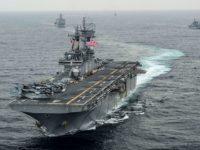 Trump: Kapal Perang AS Tembak Jatuh Drone Iran di Selat Hormuz
