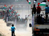 Warga Palestina berdemo pada 22 Juli 2019. (Photo by AFP)
