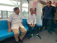 Jokowi dan Prabowo Bertemu di Stasiun MRT Lebak Bulus