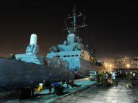 Potret kapal perang Israel yang sedang dipersiapkan untuk operasi Flotilla pada Mei 2010.