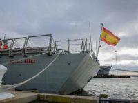 Potret kapal perang angkatan laut Spanyol, Méndez Núñez.