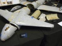 Sisa-sisa drone Yaman yang menyerang fasilitas minyak Aramco, Saudi. Sumber: AP