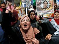 Warga Palestina berdemo di Hari Tahanan Palestina di Tepi Barat, 17 April 2019. (Photo by AFP)