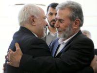 Menlu Iran, M. Javad Zarif saat bertemu dengan pimpinan kelompok perlawanan Jihad Islam, Ziyad al-Nakhaleh. Sumber: Presstv