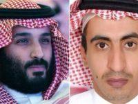 Putra Mahkota Arab Saudi, Mohammad bin Salman (kiri). Jurnalis Arab Saudi, Turki bin Abdulaziz al-Jasser (kanan). Sumber: Presstv